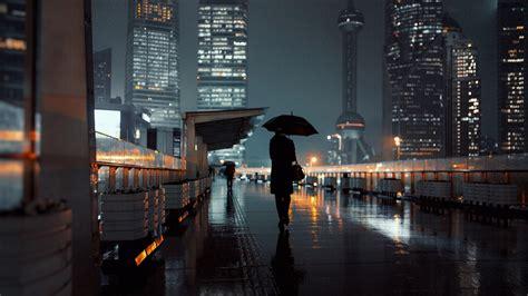 rainy night  shanghai  ultrahd wallpaper wallpaper