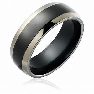 black titanium wedding rings for men unique and durable With black titanium wedding rings for men