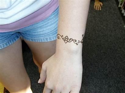 Wrist Henna Tattoo Tattoos Simple Bracelet Designs