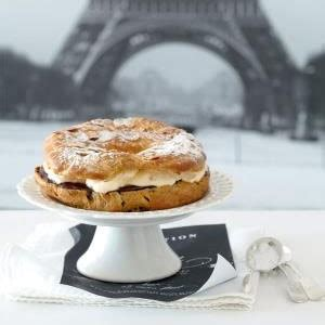 classic paris brest  chocolate filling food