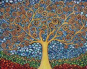 My Tree of Life Original Painting (Print) | Mosaics ...