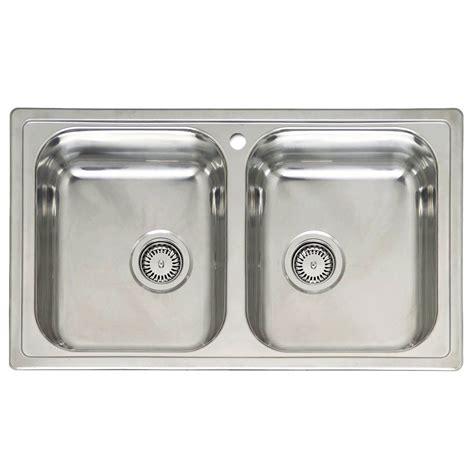 two bowl kitchen sink reginox diplomat 20 bowl sink sinks taps 6419