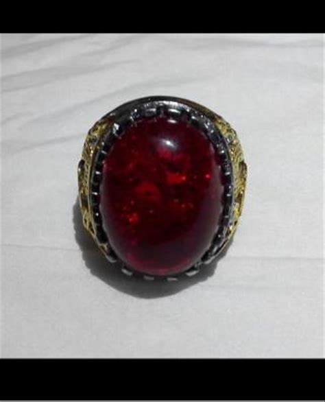 jual cincin titanium batu pecah seribu merah siem atau
