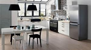 Table Cuisine étroite : cuisines le blanc prend des couleurs leroy merlin ik a mobalpa ~ Teatrodelosmanantiales.com Idées de Décoration