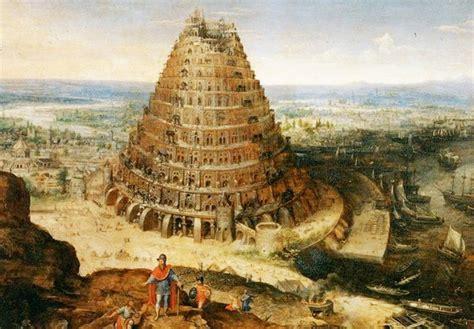 imagenes arte pinturas paisajes torre de babel oleo