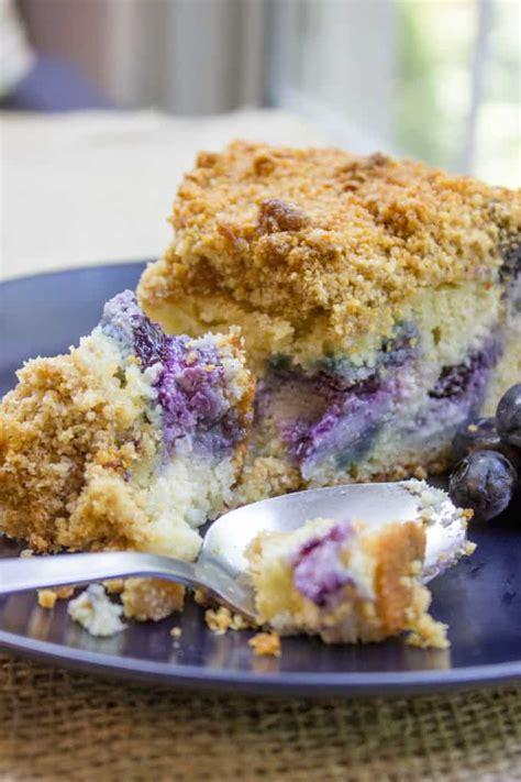blueberry cream cheese coffee cake dinner  dessert