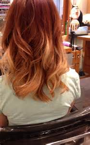 Copper and Blonde Ombre Hair