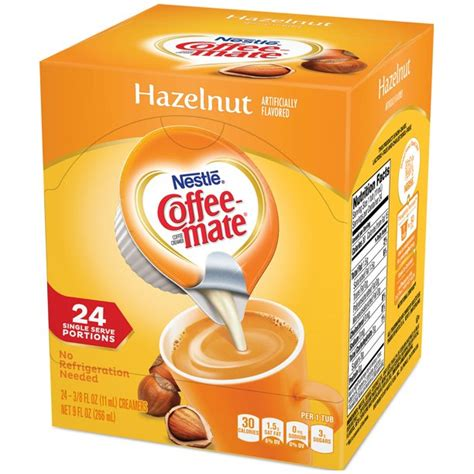 I've been enjoying coffee mate fat free hazelnut creamer in my coffee every morning ingredient in the hazel nut fat free mate. COFFEE MATE Hazelnut Liquid Coffee Creamer 24 ct Box (3 ...