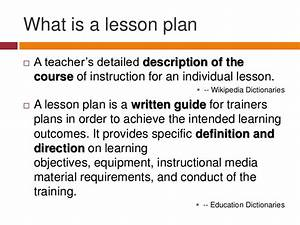 lesson plan powerpoint presentation With what is the meaning of template