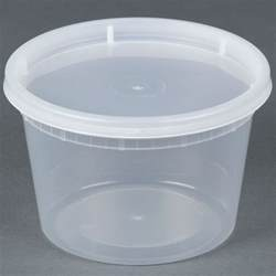 16 oz microwavable translucent plastic deli container with lid 240 case