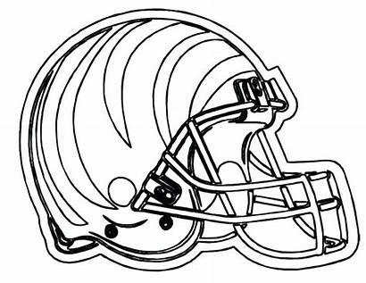 Football Coloring College Pages Helmet Printable Teams