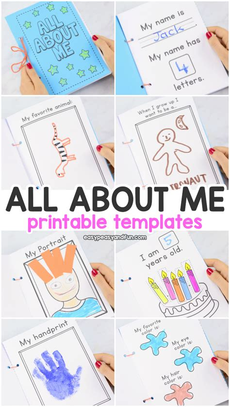 all about me printable book templates easy peasy and 407 | All About Me Printable Templates. Fun printable activity book for preschool and kindergarten.