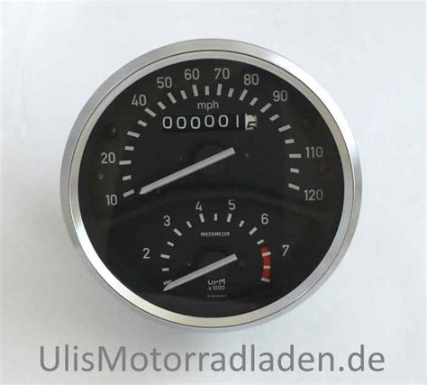 speedo with revolution counter 10 120 mph gear ratio 1 150 for bmw r75 5