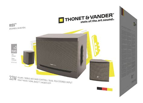 th 03539 thonet vander riss speaker 2 1 wired 32 w black grey electronic discount be