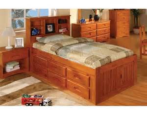 honey captains twin bed with 6 drawers