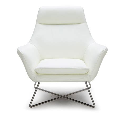 a831 modern white leather lounge chair lounge chaise occasional