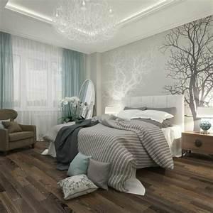 Chambre Grise Et Beige : les papiers peints design en 80 photos magnifiques ~ Melissatoandfro.com Idées de Décoration