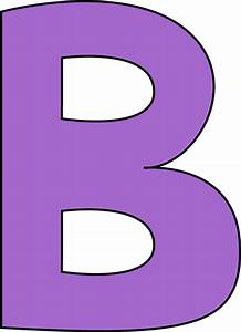 Purple Letter B Clip Art - Purple Letter B Image - Cliparts.co