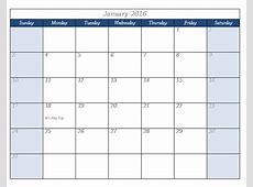 2016 Calendar Template Templates for Microsoft® Word