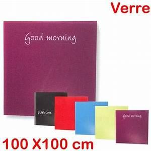 Tableau En Verre : tableau en verre 100 x 100 ~ Melissatoandfro.com Idées de Décoration