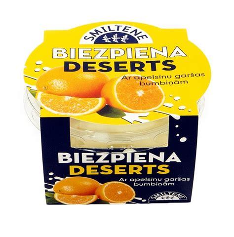 Biezpiena deserts ar apelsīnu garšas bumbiņām ...