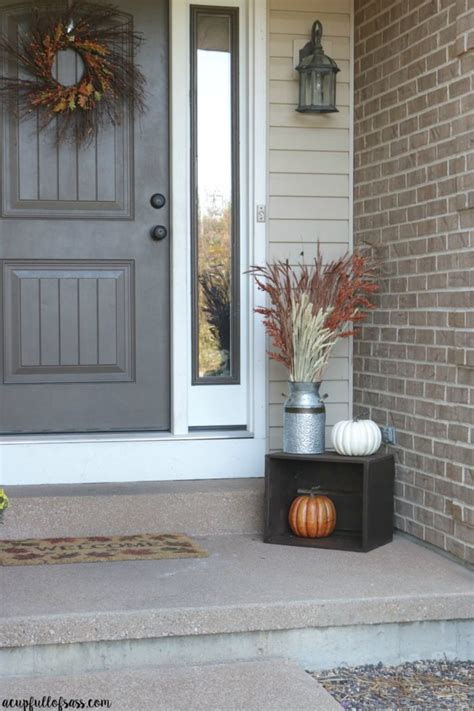 Fall Porch Decor Ideas Cup Full Sass
