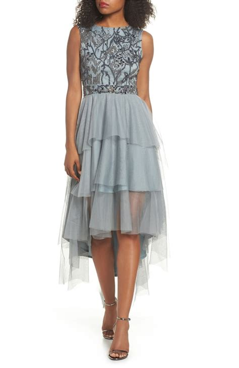 Lace Tiered Tulle Culottes lace bridget embellished tiered tulle dress