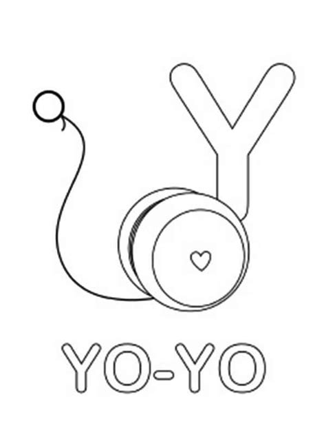 yo yo coloring page  preschool coloring pages