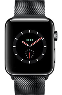 apple  series  mm black stainless steel case