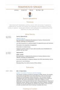 optometric assistant experience on resume optometrist resume sles visualcv resume sles database