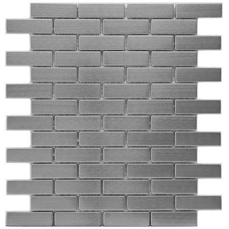 home depot merola subway tile merola tile meta subway 10 1 2 in x 12 1 4 in x 8 mm