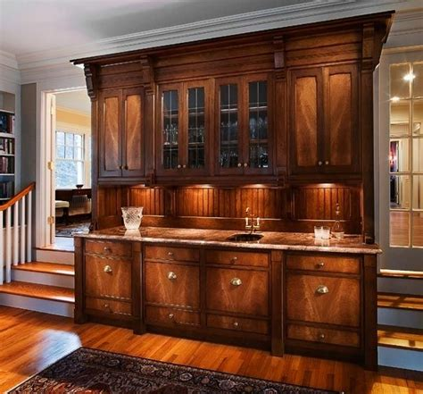 Custom Bar Cabinets by Made Traditional Bar Cabinet By Cabinetmaker Birdie