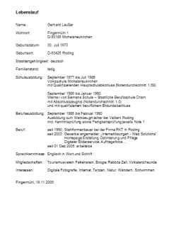 Tabellarischer Lebenslauf Vordruck by Handschriftlicher Lebenslauf Muster Rulmeca Germany