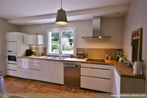 cuisine de 16m2 cuisine en l stratifie fonce carquefou 44 cuisines raison