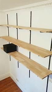 Console Murale Suspendue : tag res avec cr maill res pour un effet industriel ~ Premium-room.com Idées de Décoration