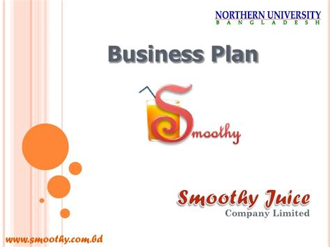 Smoothie Shop Business Plan Template
