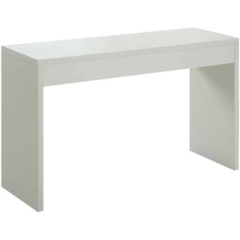 modern white table l contemporary white console table accent wood modern
