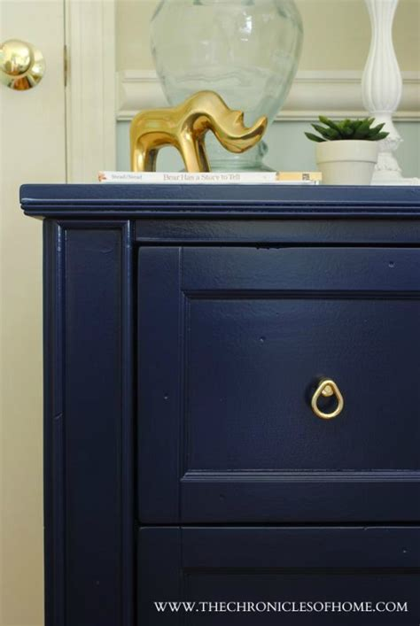 navy blue painted furniture