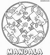 Mandala Coloring Pages Cat Mandalas Printable Unique Rocks Colorings Easy Abstract Preschool Fire Woman Books Cats Colouring Sheets Getcolorings Simple sketch template
