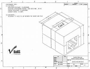 dcs 102 8cd 6 category 6 rj45 shielded inline coupler With rj45 jack wiring a or b