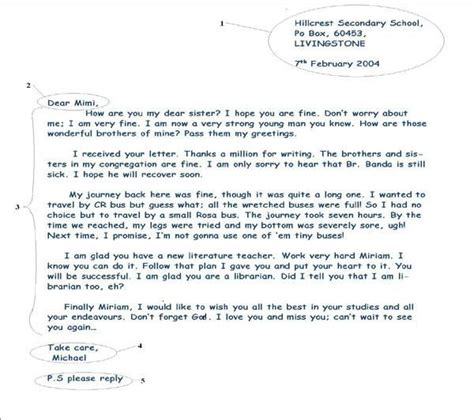 informal letter writing english writing pinterest