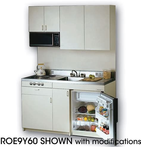 apartment size gas acme roe9y60 compact kitchen with stainless steel
