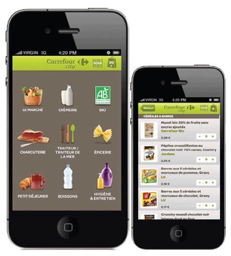 carrefour mobile phones carrefour city lance une application pour faire ses