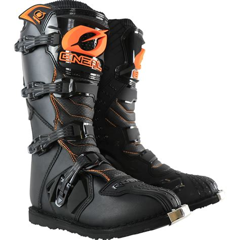motocross motorcycle boots oneal new 2017 mx rider boot dirt bike black orange