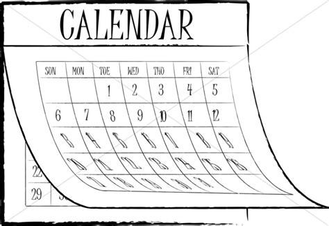 schedule clipart black and white black and white with schedule banner