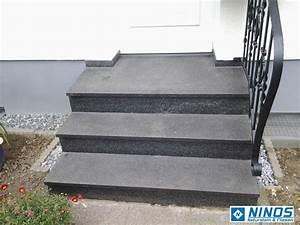Treppe 3 Stufen Aussen : granittreppen granit treppen stufen nero impala treppenstufen geflammt geb rstet ebay ~ Frokenaadalensverden.com Haus und Dekorationen