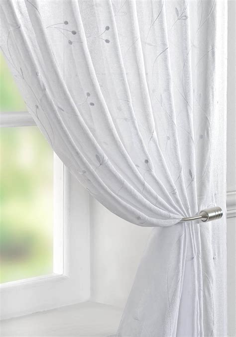 juniper voile curtain panel white free uk delivery