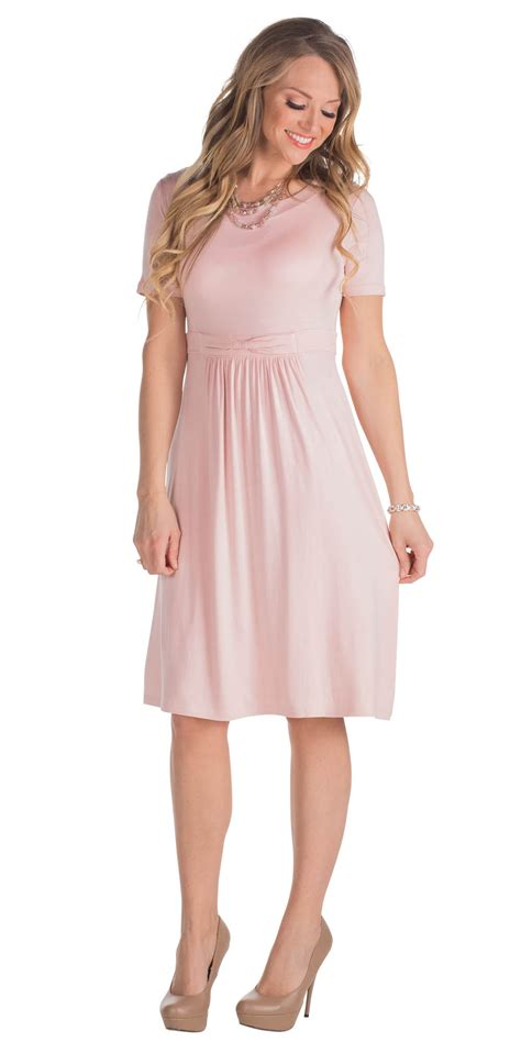 light blush pink dress jenclothing quot erin quot modest dress in lotus pink