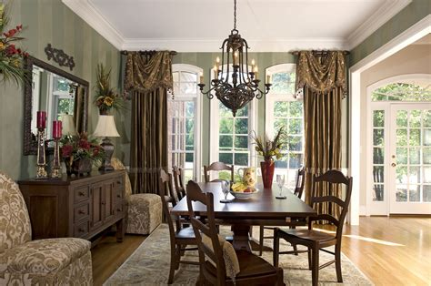 dining room drapery ideas window treatments with drama and panache decorating den interiors