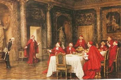 Medieval Igreja Clero Medievais Cardeais Os Papas